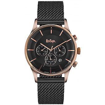 Shows Lee Cooper-LC06492-460 - Bracelet steel black case steel Dor Rose man Milanese