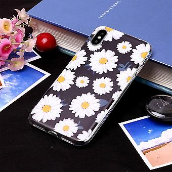 Pour iPhone XS Max Case White Daisy TPU Protective Back Cover