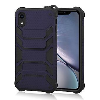 Stoßfeste Rüstung Schutzhülle für iPhone XR, dunkelblau