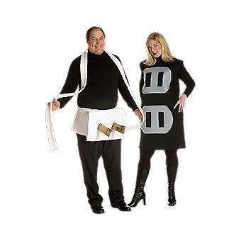 Adulti Plug & Socket Coppie America USA Fancy Dress Costume