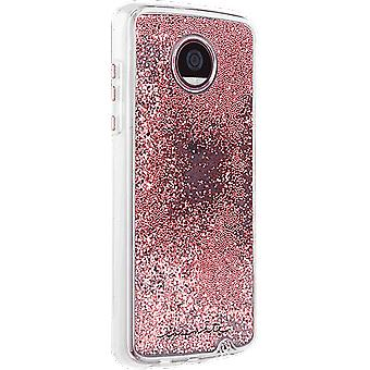 Case-Mate Waterfall Case for Moto Z2 Play - Rose Gold Glitter