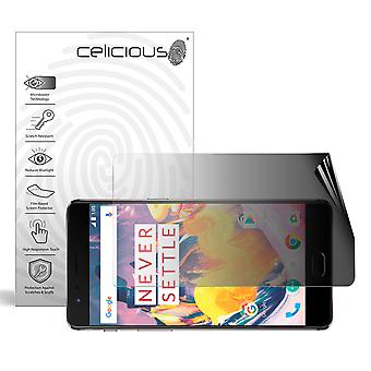 Celicious Privacy 2-Wege Landschaft Anti-Spy Filter Screen Protector Film kompatibel mit OnePlus 3T