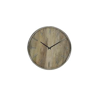 Light & Living Clock 51cm Timaru Wood-Nickel