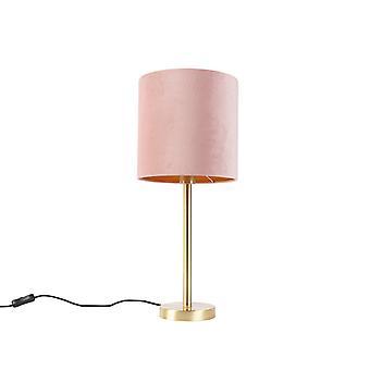 QAZQA Mesa de mesa romântica com sombra rosa 25 cm - Simplo