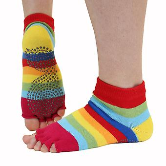 TOETOE Yoga & Pilates Anti-Slip Unisex Trainer Open Toe Socks