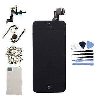 الاشياء المعتمدة® iPhone 5C شاشة قبل تجميعها (شاشة تعمل باللمس + LCD + أجزاء) AAA + الجودة - أسود + أدوات