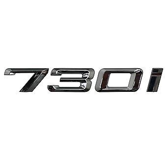 Silver Chrome BMW 730i Car Model Rear Boot Number Letter Sticker Decal Badge Emblem For 7 Series E38 E65 E66E67 E68 F01 F02 F03 F04 G11 G12