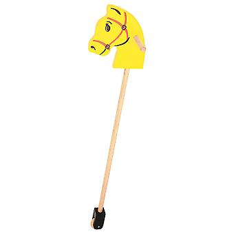Bigjigs Toys Wooden Stick Hobby Horse Active Walker Activity Plush