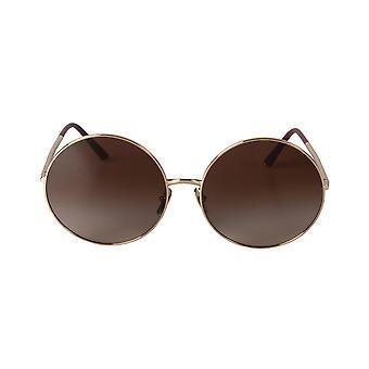 Dolce und Gabbana DG2198 131813 63 Runde Aviator Sonnenbrille