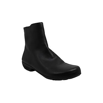Walking Cradles Womens Elsie Leather Round Toe Ankle Fashion, Black, Size 13.0