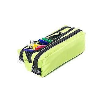 Essentials de Loft 25 Resistente al agua con cremallera 3 compartimientos rectangular lápiz caja / bolsa de maquillaje - cal