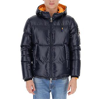 After Label Al021790 Men's Blue Polyester Down Jacket