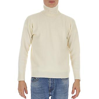 Laneus Mgu557cc3panna Men's Witte Wollen Trui