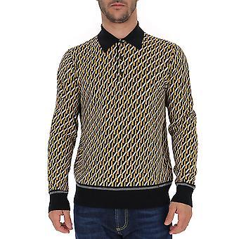 Prada Umm9861um1f015x Männer's gelb/schwarz Wolle Pullover