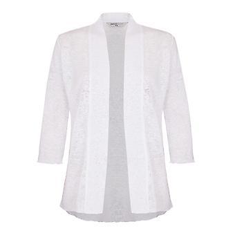 PENNY PLAIN White 3/4 Sleeve Shrug