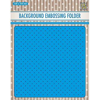 Nellie's Choice Embossing Folder Background small dots EEB028 150x150mm (11-19)