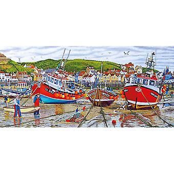 Gibsons mouettes à Staithes Jigsaw Puzzle (636 pièces)