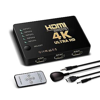 HDMI Switch 5x1 med fjärrkontroll