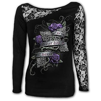 Spiral Every Rose Lace One Shoulder Top
