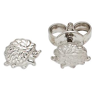 Kids stud earrings hedgehog 925 sterling silver rhodium-plated earrings kids earrings