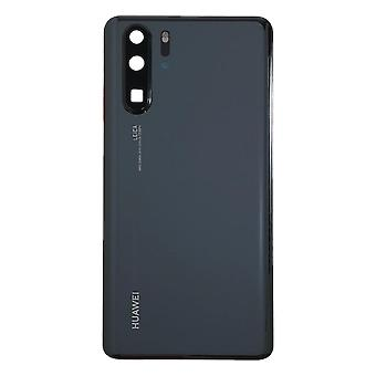 Black Back Cover With Adhesive For Huawei P30 Pro - 02352PBU