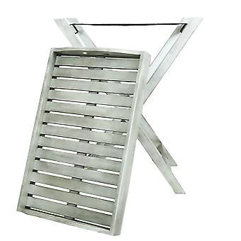 Charles Bentley FSC Akazien weiß gewaschen Holz Butler Tablett - platzsparendes Design kompakt faltbar - maximales Gewicht 20Kg