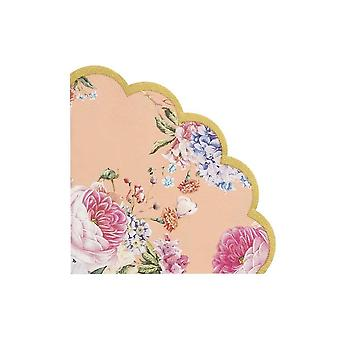 Truly Scrumptious Scalloped Floral Paper Party Napkin x 20 - Tableware