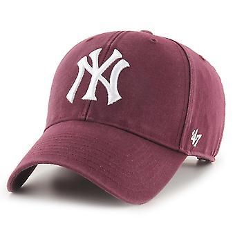 47 Marka Relaxed Fit Cap - LEGENDA New York Yankees bordowy
