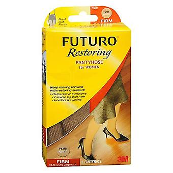 Futuro restoring pantyhose for women, firm, nude, plus, 1 pair