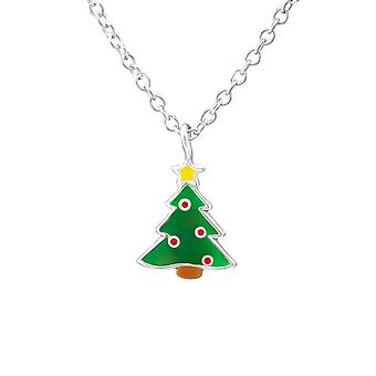 شجرة عيد الميلاد-قلادات فضة 925-W35186x