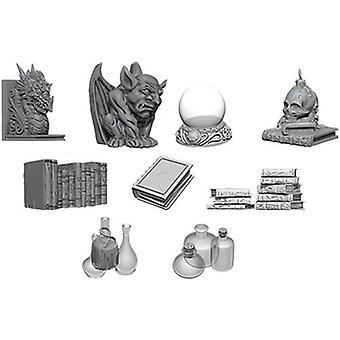 WizKids Deep Cuts Des Miniatures non peintes Wizard-apos;s Room (Pack de 6)