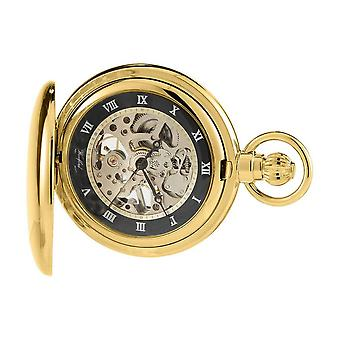 Woodford Albert skelet Zwitserse Pocket Watch - goud