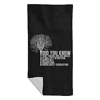 Alan Partridge Dutch Elm Did You Know Quote Beach Towel