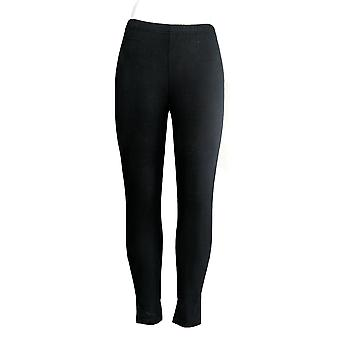 Amadora Leggings Sport Mid Rise Soft Ankle Length Black