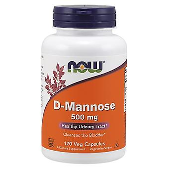 Now Foods D-Mannose 500 mg 120 capsules