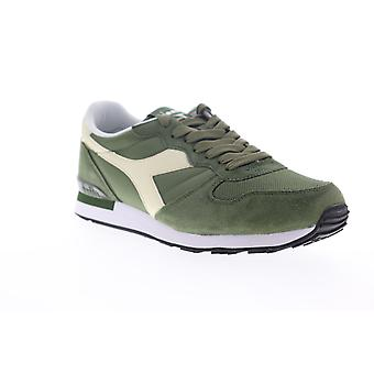 Diadora Camaro  Mens Green Suede Lace Up Low Top Sneakers Shoes