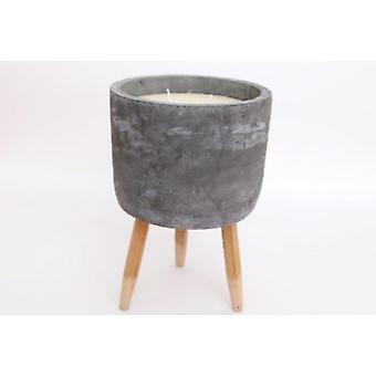 Cement Tripod Candle Pot 20cm Stylish