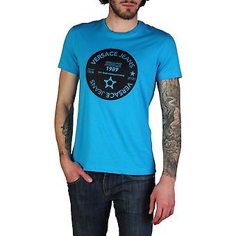 Man short round neckline t-shirt kf99031
