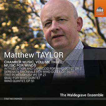 Taylor / Cooper - Chamber Music 3 / Music for Winds [CD] USA import