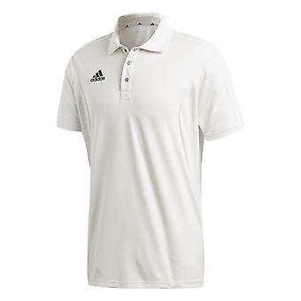 Adidas Short Sleeve Mens Cricket weißen Shirt Top Jersey weiß