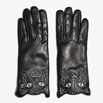 PS Paul Smith  - Leather Cheetah Gloves - Black