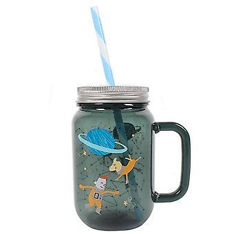 Etwas anderes Weltraumabenteuer Glas trinken