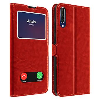 Wiko View 4/4 Lite Integral Back cover Double Window Red