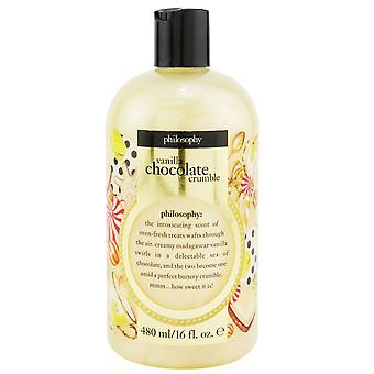 Vanille chocolade crumble shampoo, douche gel & bubbelbad 251161 480ml/16oz