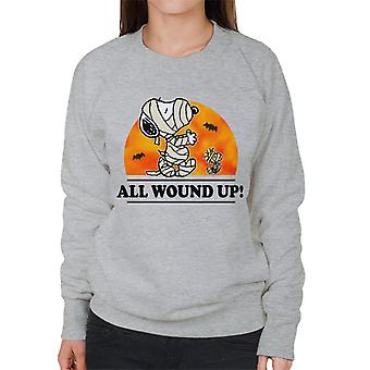 Peanuts All Wound Up Halloween Mummies Women's Sweatshirt