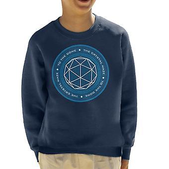 Krystal labyrint logo kid ' s sweatshirt