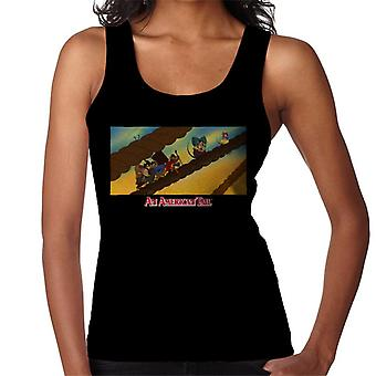 An American Tail Fievel And Family On Rope Women's Vest