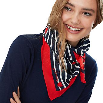 Joules Womens Tiewell Printed Square Neckerchief Scarf