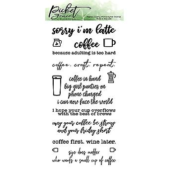 Picket Fence Studios Coffee in Hand Clear Stamps