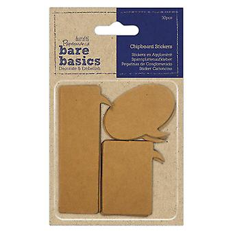 Papermania Chipboard Pegatinas